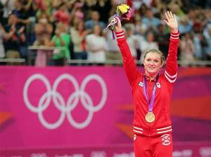 London 2012 trampoline: Rosie MacLennan wins gold, Karen ...