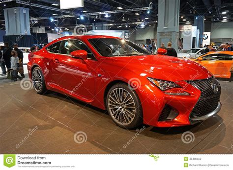 lexus cars red red lexus rc f sports car editorial photography image of