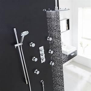 Ceiling Shower Head Set Shower Body Jets