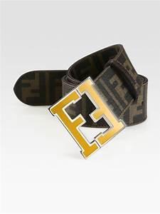 Fendi Zucca College Belt in Black for Men (yellow) | Lyst
