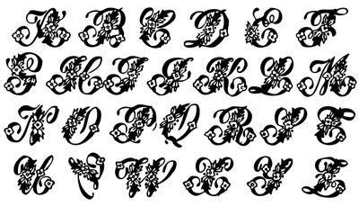 vintage clip art beautiful monogram alphabet  graphics fairy
