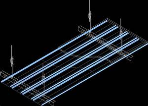 Suspended Ceiling Lighting Systems Suspended Ceiling 3d Dwg Detail For Autocad Designs Cad
