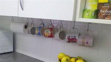 como hacer una barra  colgar tazas treinta