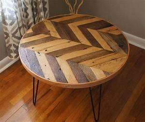 round chevron patterned coffee table a modern piece With piece of wood coffee table