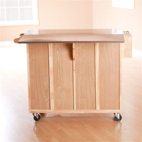 counter height kitchen island stainless steel top kitchen island counter height utility