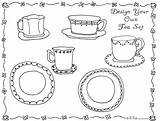 Tea Coloring Party Pages Printable Games Drawing Activity Boston Adult Bnute Colouring Ship Activities Own Pledge Allegiance Crafts Victorian February sketch template