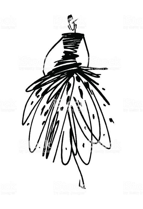 fashion girl sketch hand drawn stylized silhouettes