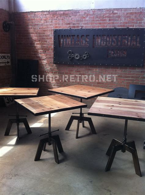 adjustable height   great idea vintage industrial cafe table adjustable restaurant dining