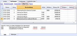 Rechnung Fälligkeit : f lligkeiten anzeigen banana accounting software ~ Themetempest.com Abrechnung