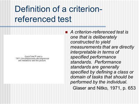 criterion referenced assessment standards based assessment ppt download