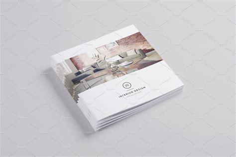 minimal interior design brochure brochure templates