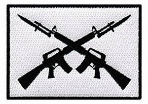 Amazon.com: AR-15 Crossed Assault Rifles Iron-On Patch ...