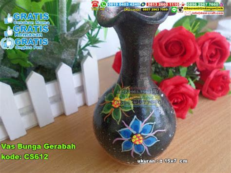 vas bunga gerabah souvenir pernikahan