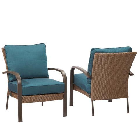 hton bay corranade stackable wicker outdoor lounge