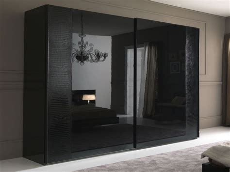 Black Wardrobe by Black Wardrobe With Mirror Modern Bedroom Wardrobes