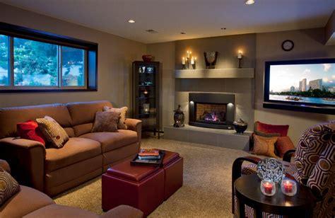 cozy basement modern basement portland