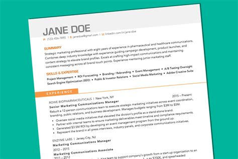 How A Resume Supposed To Look by What Your Resume Should Look Like In 2019 Money