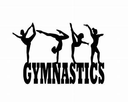 Gymnastics Svg Gymnast Silhouettes Clipart Dance Restrictions