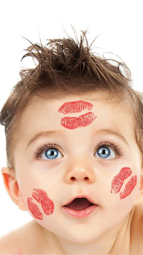 Cute Boy With Lipstick On His Face Wallpapers - 720x1280