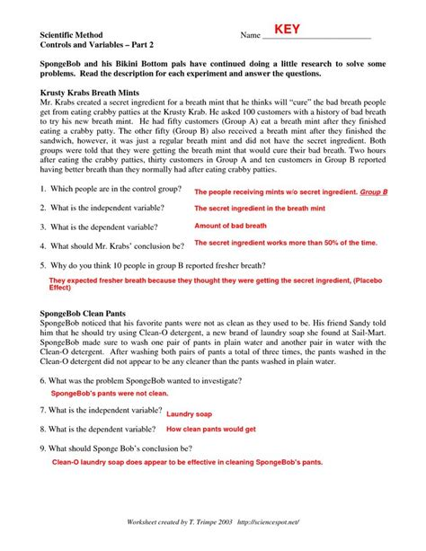 scientific method story worksheet answer key 78 best images about 7th grade science on pinterest