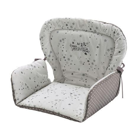 chaise pour bebe coussin de chaise haute pour bébé en coton blanche grise