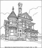 Coloring Victorian Adult Houses Realistic Adults Homes Drawing Printable Drawings Books Colouring Buildings Dibujos Bree Album Sheets Pintar Paisajes Challenging sketch template