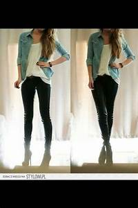 Simple outfit #teen style | teen fashion | Pinterest | Denim button down Style and Simple outfits