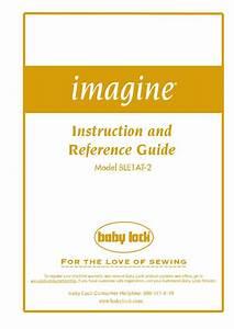 Baby Lock Imagine User Manual