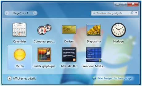 gadjet de bureau comment installer la météo sur bureau windows 7