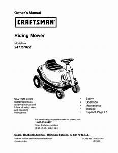 Craftsman Lawn Mower 247 27022 User Guide