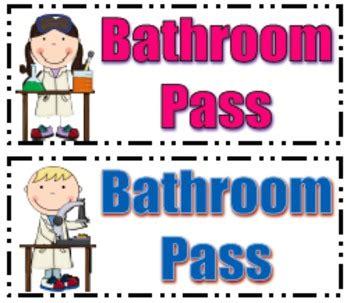 Bathroom Pass Clipart (38