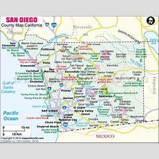 San Diego County Map, Map Of San Diego County, California