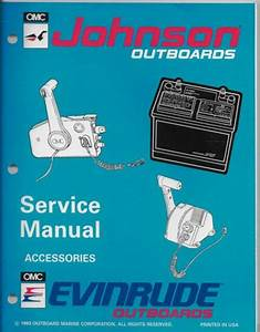 Johnson Outboards Service Manual Accessories Eveninrude Outboards Remote Control