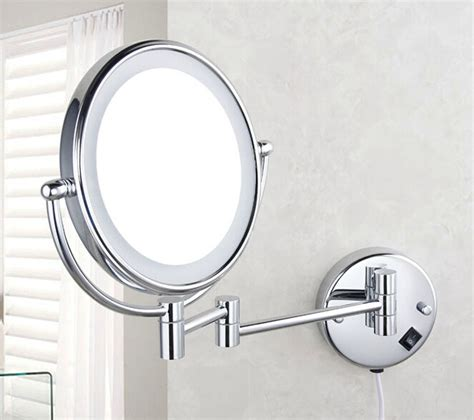 Bathroom Magnifying Mirror With Light by 2015 Bathroom Wall Mount Lighted Dual Sided Makeup Mirror