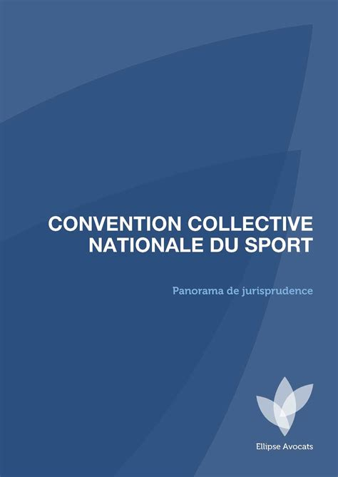 calam 233 o panorama de jurisprudence convention collective nationale du sport