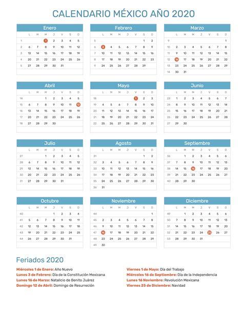 calendario de mexico ano feriados