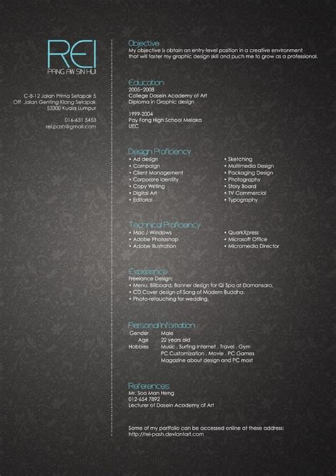 A background image can be specified for almost any html element. 40 Truly Creative Resume Designs for Inspiration
