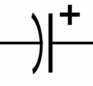 File Polarized Capacitor Symbol Svg