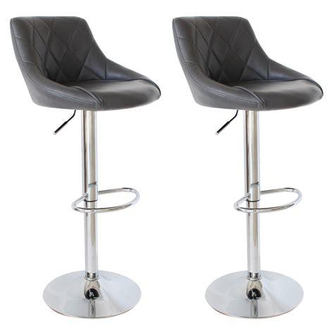 chaise de bar avec dossier lot de 2 tabourets de bar avec dossier en pu chaise cuisine réglable f009 ebay