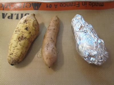 how to cook purple yam in the oven cannundrums baked purple yams or okinawa purple potatoes