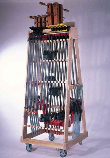 When you first start woodworking, you get a few different sets of clamps and think, alright this is great. Rolling Clamp Rack | Small woodworking projects, Easy ...
