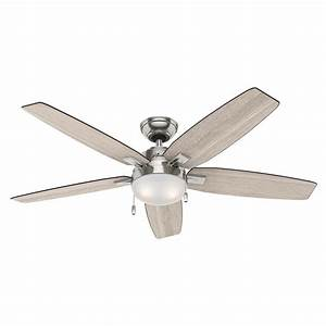 Hunter antero in led indoor brushed nickel ceiling fan