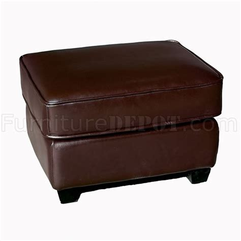 light brown leather ottoman light brown color cube shape modern leather ottoman