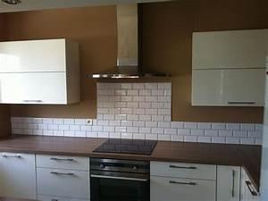 carrelage noir et blanc cuisine 8 faience metro chaios With carrelage cuisine blanc et noir