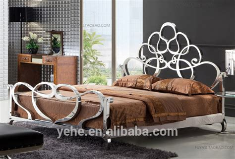 Stainless Steel Venus Bed,Super King Size Bed,Royal Furniture Sofa Bed,Luxury Bedroom Set