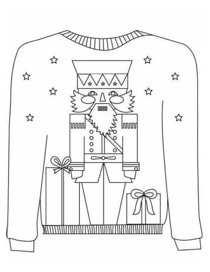 Sweater Ugly Coloring Christmas Pages Sheets Motif