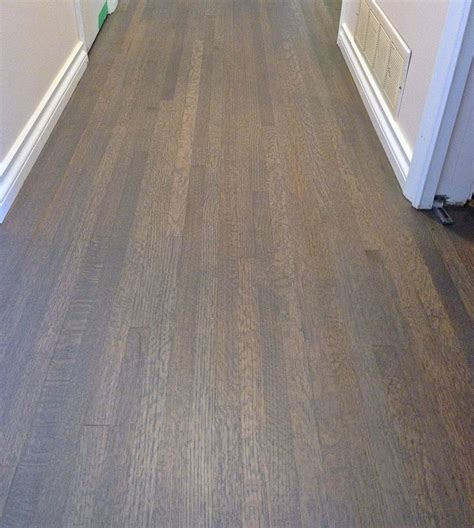 red oak hardwood floor custom stained  grey mix colour