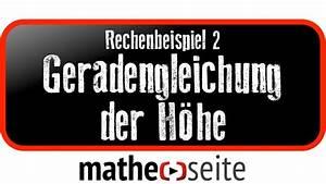 Geradengleichung Berechnen : geradengleichung der h he berechnen beispiel 2 ~ Themetempest.com Abrechnung