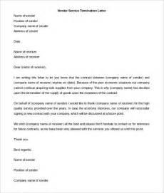 Sample Service Termination Letter 13 Service Termination