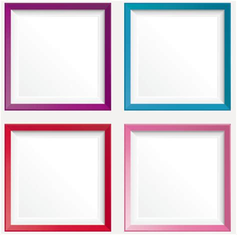 colored picture frames simple colored photo frame vectors free